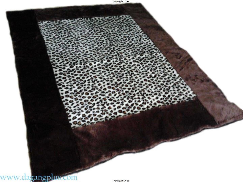 Karpet Bulu Halus Motif Kombinasi Leopard Putih